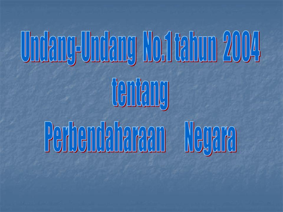 Undang-Undang No.1 tahun 2004 tentang Perbendaharaan Negara
