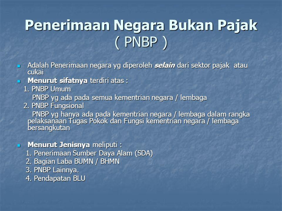 Penerimaan Negara Bukan Pajak ( PNBP )