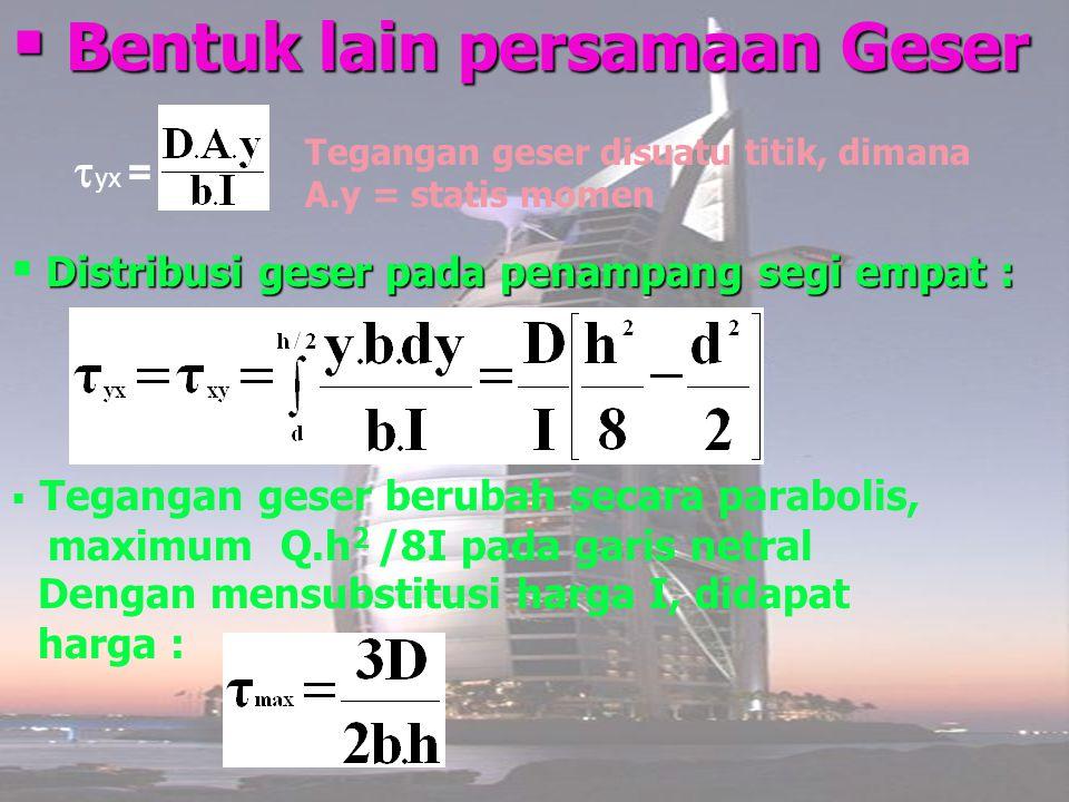 Bentuk lain persamaan Geser