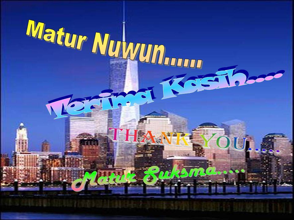 Matur Nuwun...... Terima Kasih.... Thank You..... Matur Suksma.....