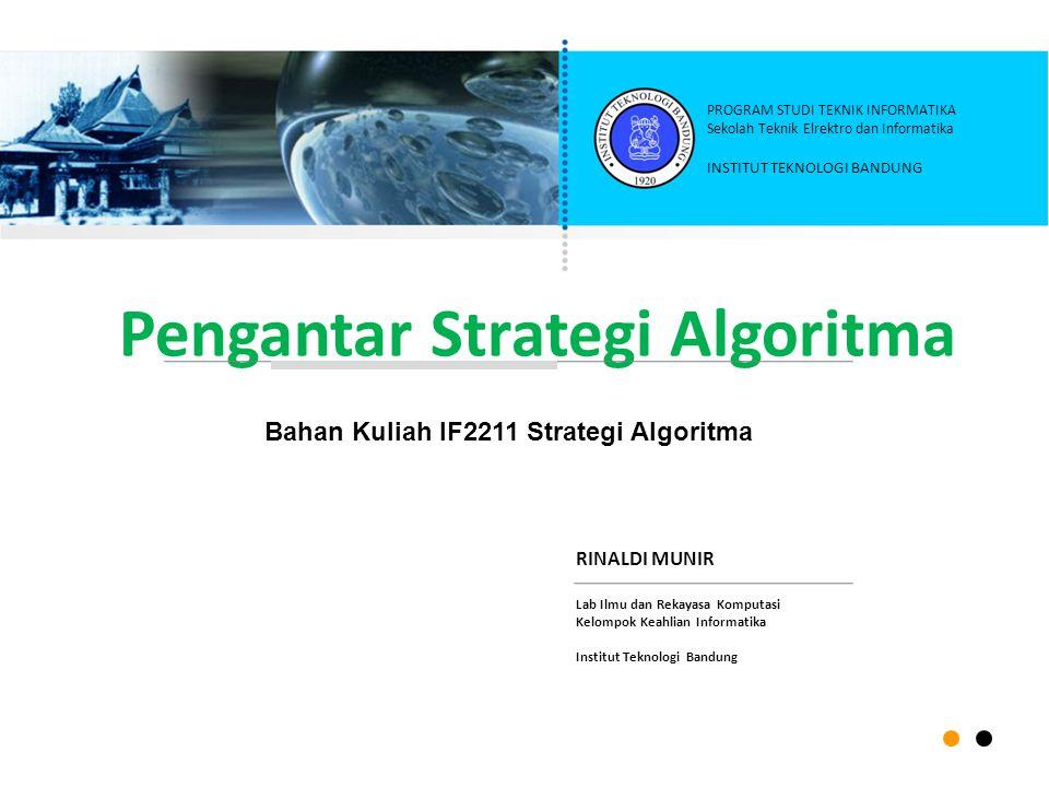 Pengantar Strategi Algoritma