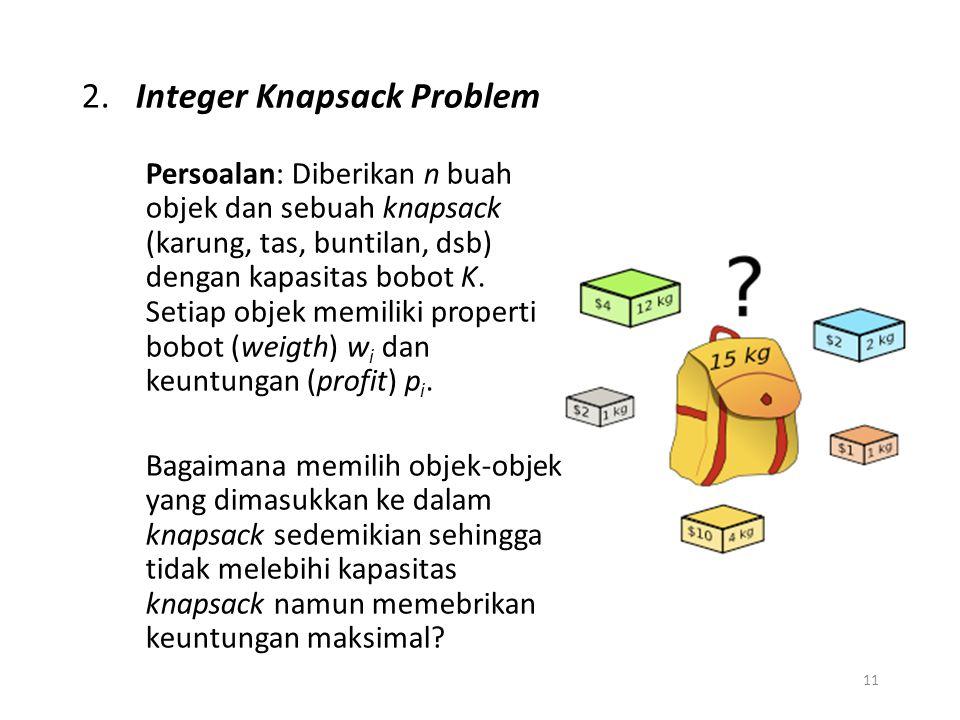 2. Integer Knapsack Problem