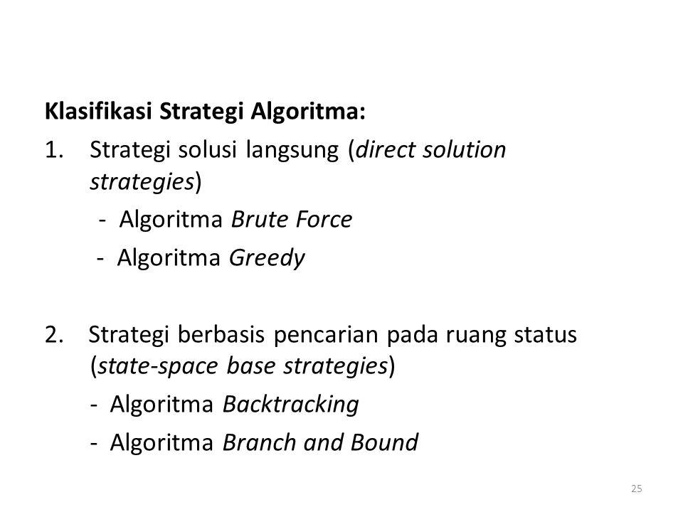 Klasifikasi Strategi Algoritma: