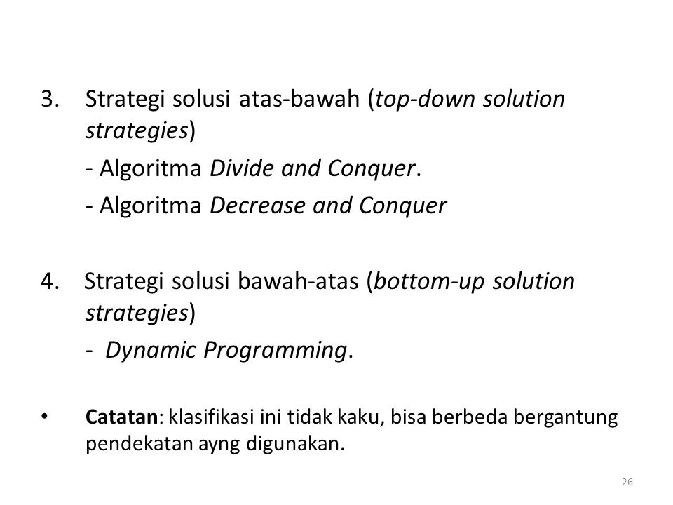 Strategi solusi atas-bawah (top-down solution strategies)