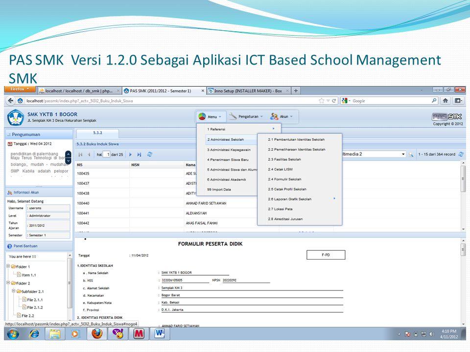 PAS SMK Versi 1.2.0 Sebagai Aplikasi ICT Based School Management SMK