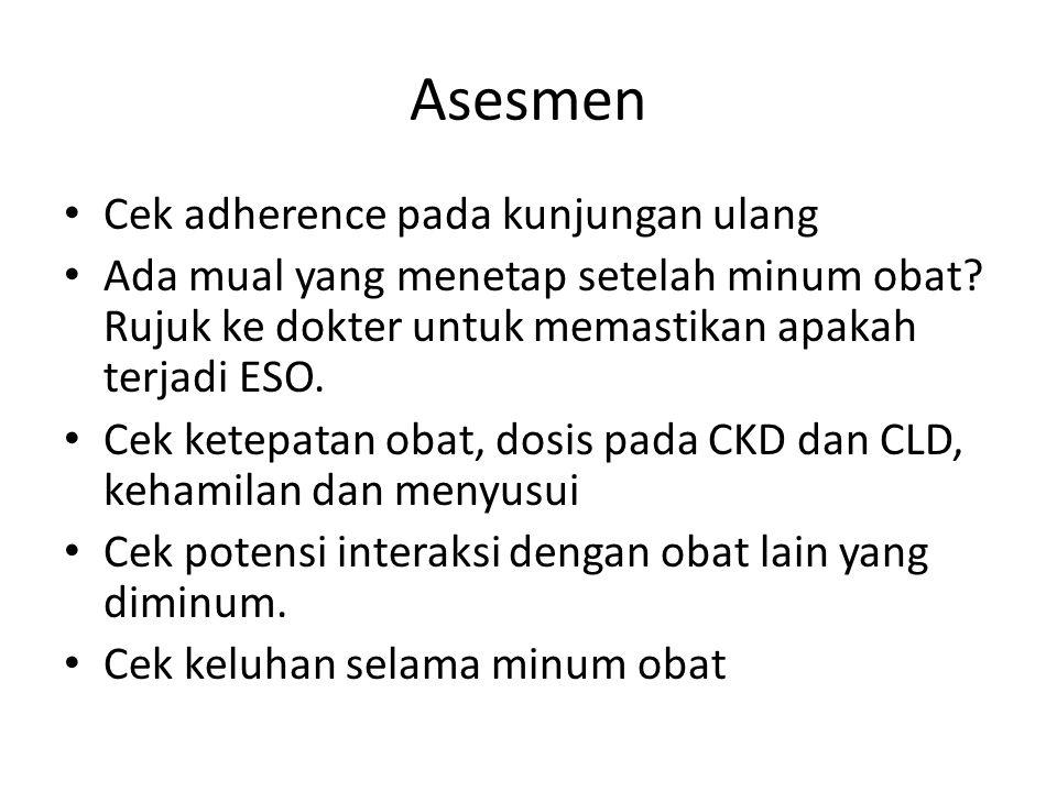 Asesmen Cek adherence pada kunjungan ulang