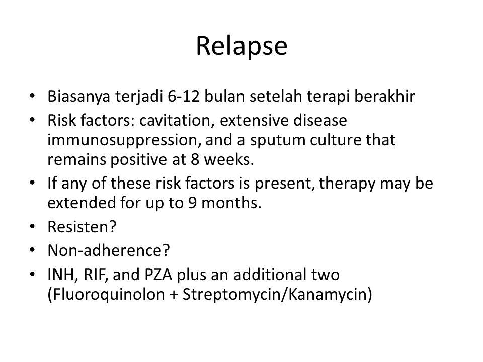 Relapse Biasanya terjadi 6-12 bulan setelah terapi berakhir