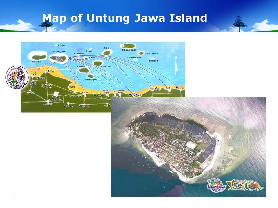 Map of Untung Jawa Island