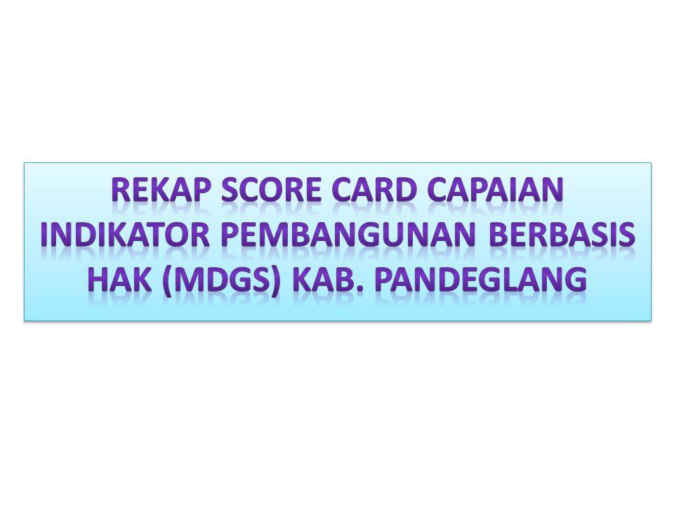 REKAP SCORE CARD CAPAIAN INDIKATOR PEMBANGUNAN BERBASIS HAK (MDGs) KAB