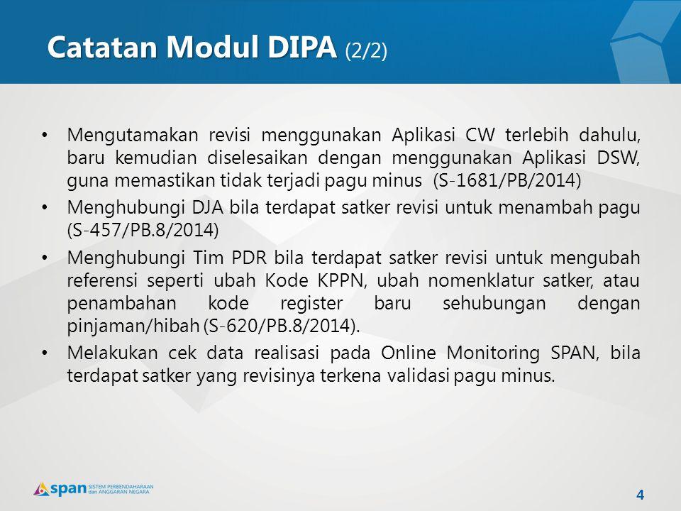 Catatan Modul DIPA (2/2)
