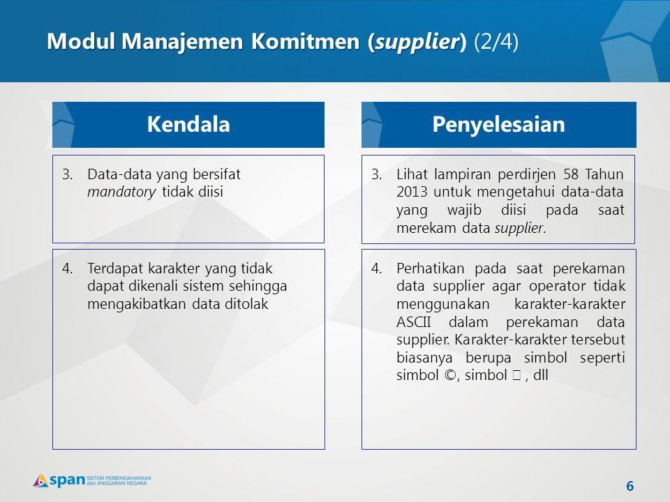 Modul Manajemen Komitmen (supplier) (2/4)