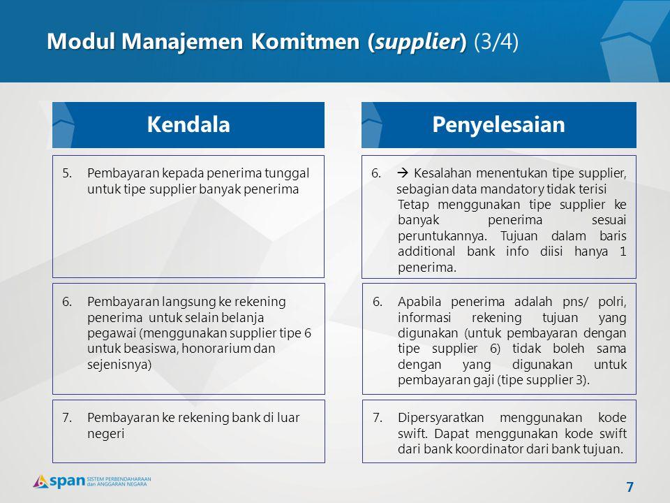Modul Manajemen Komitmen (supplier) (3/4)
