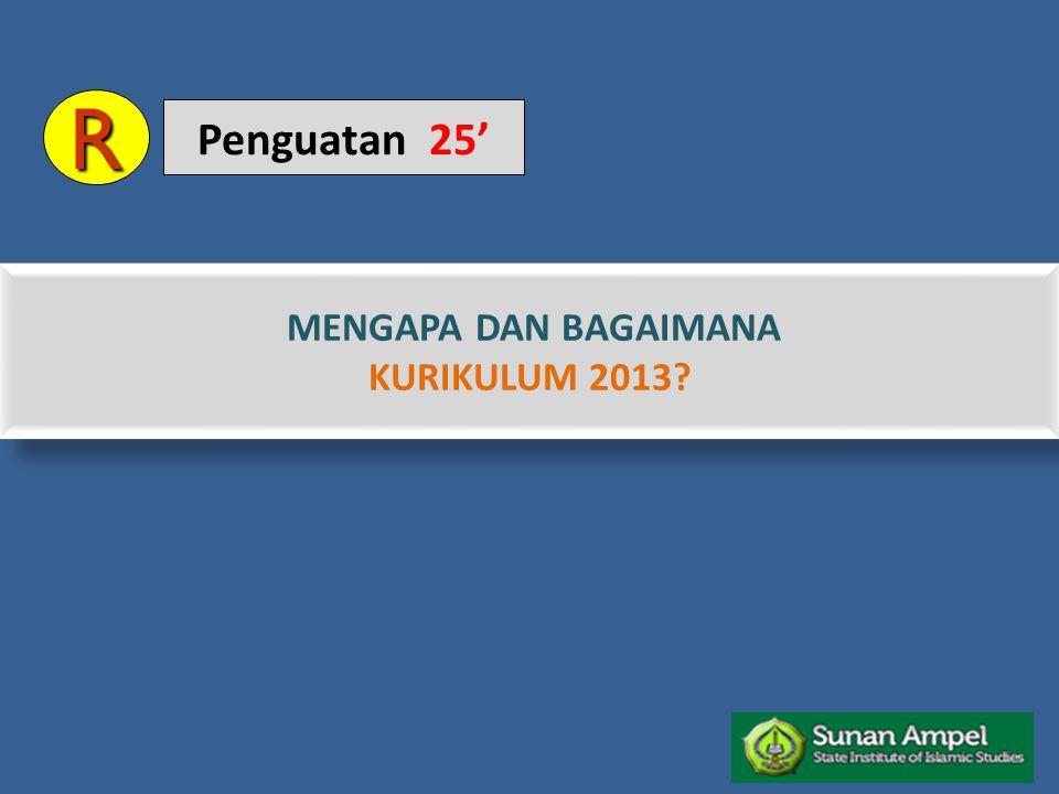 R Penguatan 25' MENGAPA DAN BAGAIMANA KURIKULUM 2013