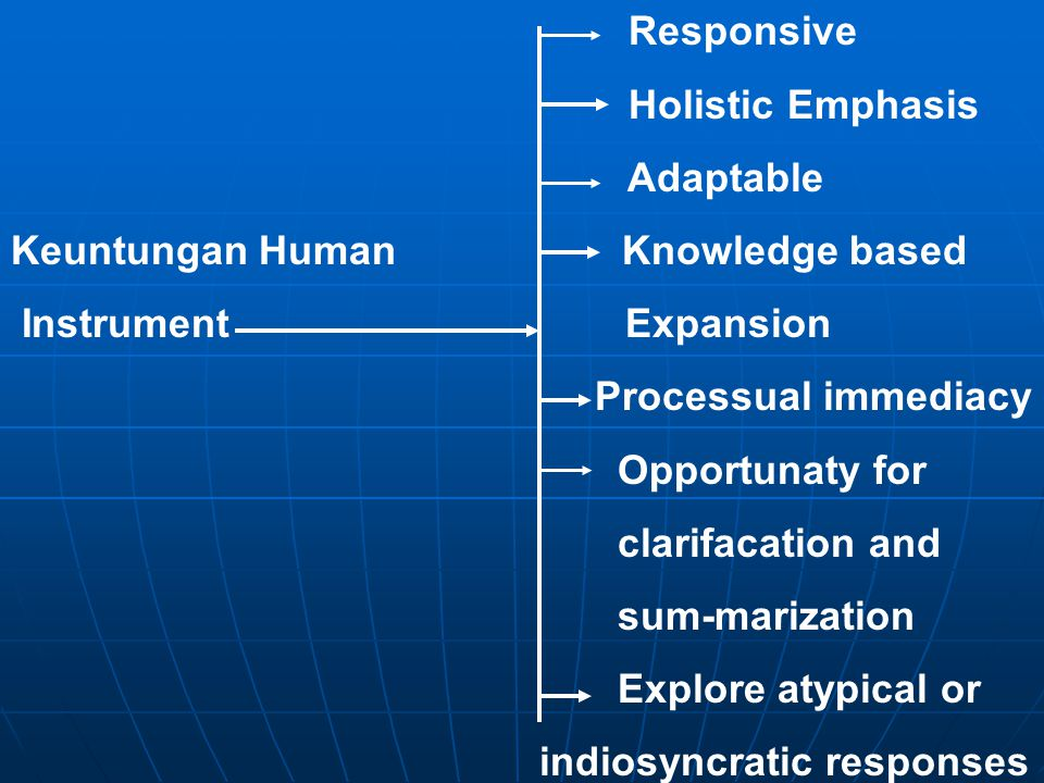 Responsive Holistic Emphasis. Adaptable. Keuntungan Human Knowledge based.