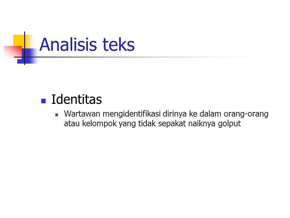 Analisis teks Identitas