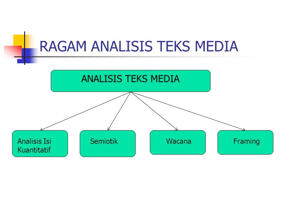 RAGAM ANALISIS TEKS MEDIA