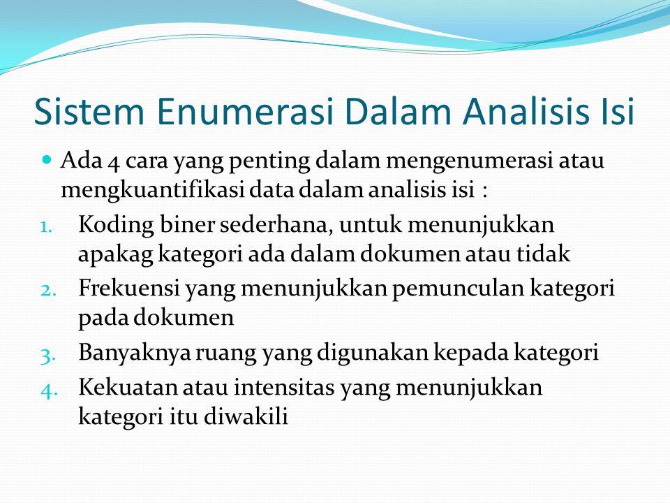 Sistem Enumerasi Dalam Analisis Isi