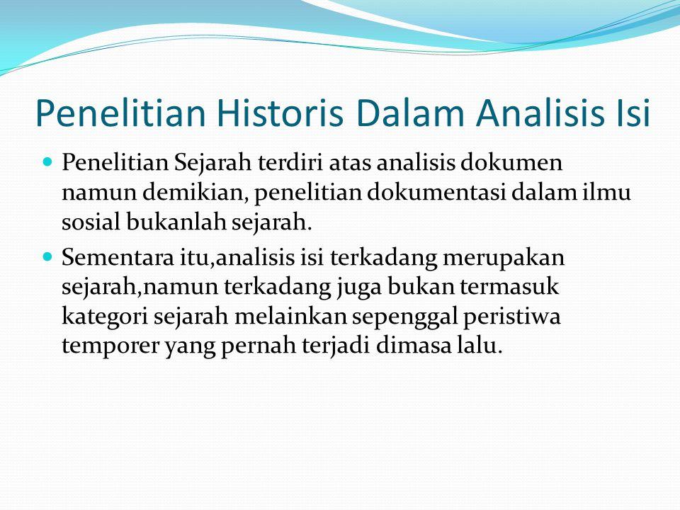 Penelitian Historis Dalam Analisis Isi