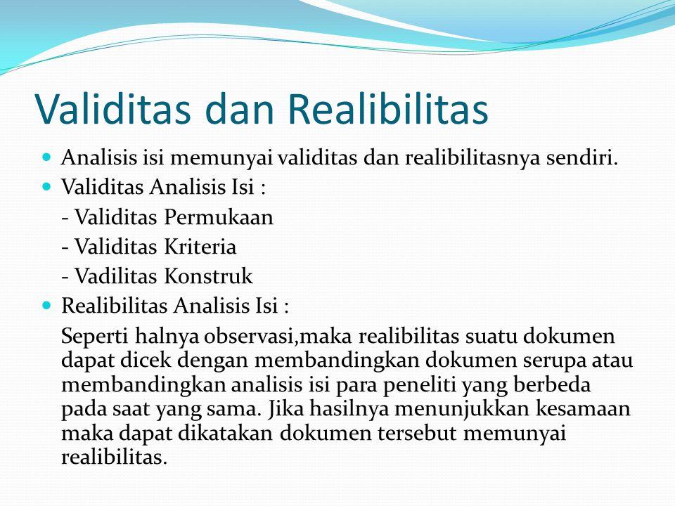 Validitas dan Realibilitas