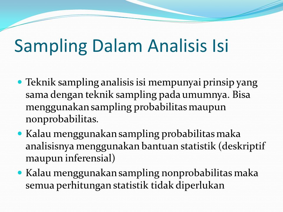 Sampling Dalam Analisis Isi