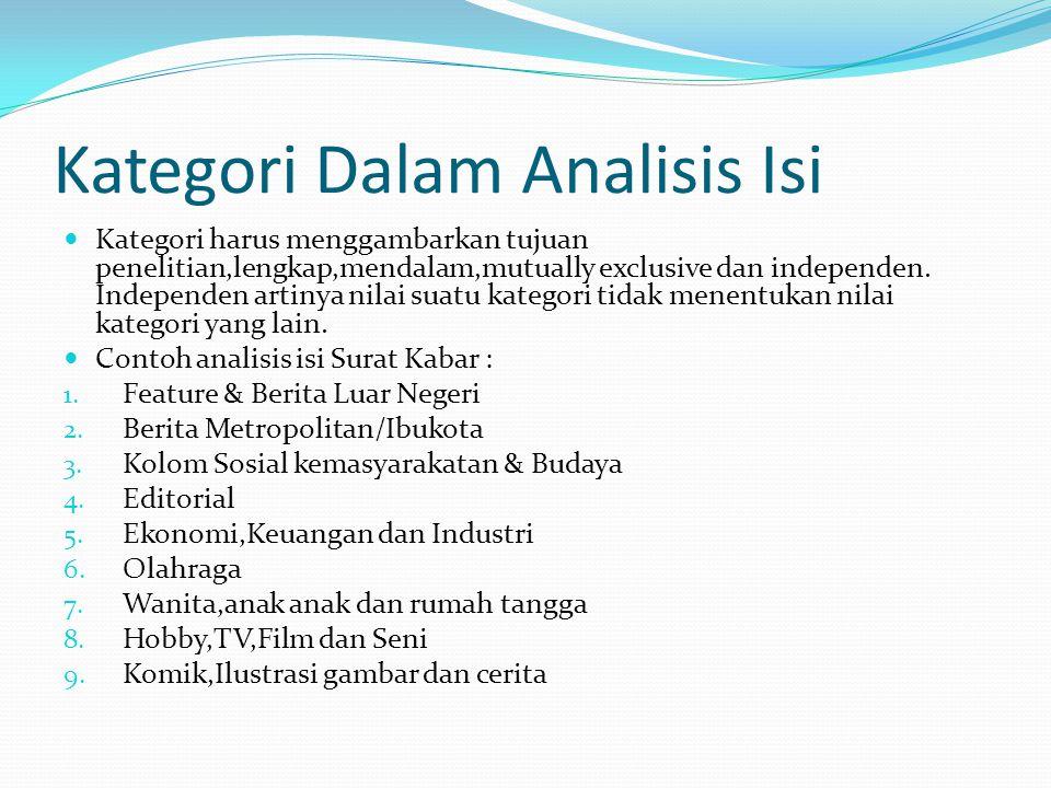 Kategori Dalam Analisis Isi