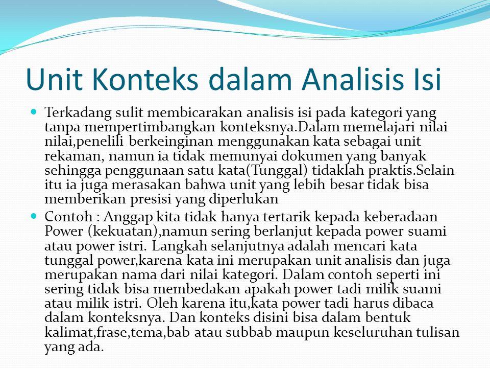 Unit Konteks dalam Analisis Isi