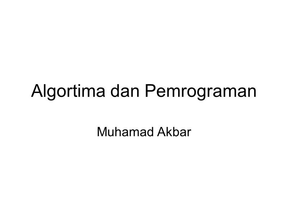 Algortima dan Pemrograman