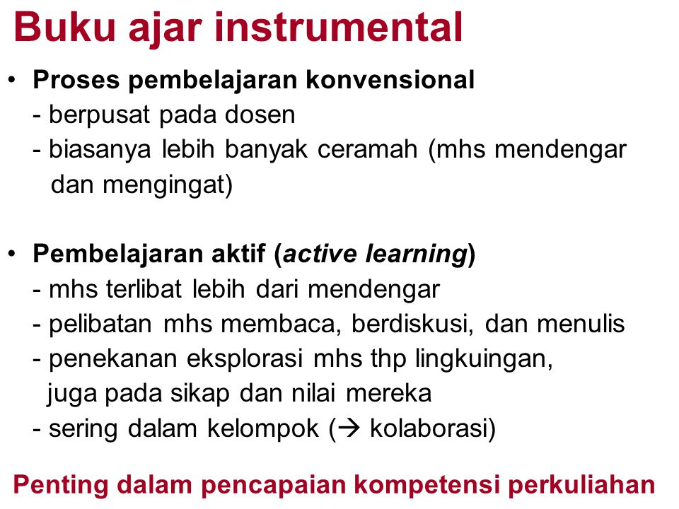 Buku ajar instrumental