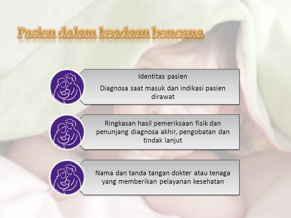 Diagnosa saat masuk dan indikasi pasien dirawat