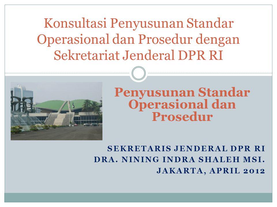 Penyusunan Standar Operasional dan Prosedur