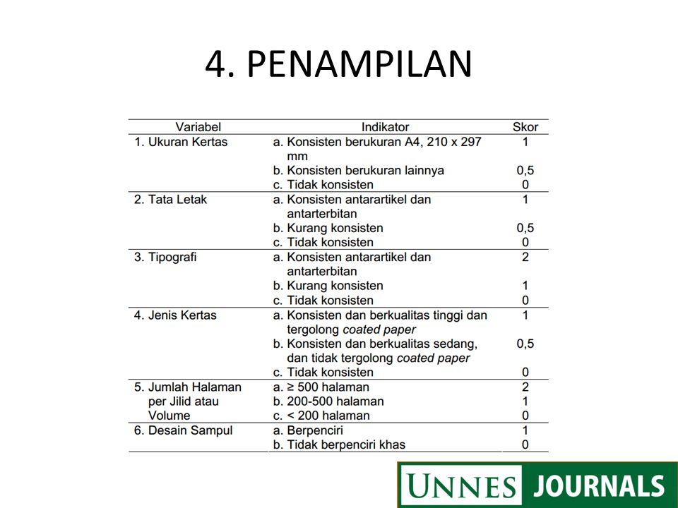 4. PENAMPILAN