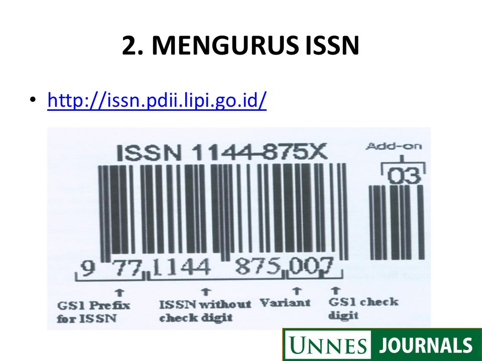 2. MENGURUS ISSN http://issn.pdii.lipi.go.id/