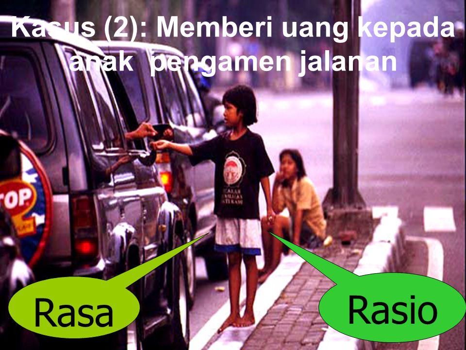 Kasus (2): Memberi uang kepada anak pengamen jalanan