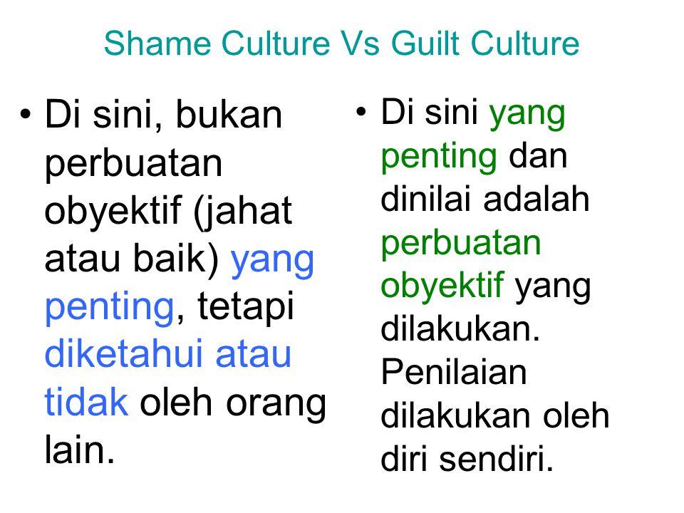 Shame Culture Vs Guilt Culture