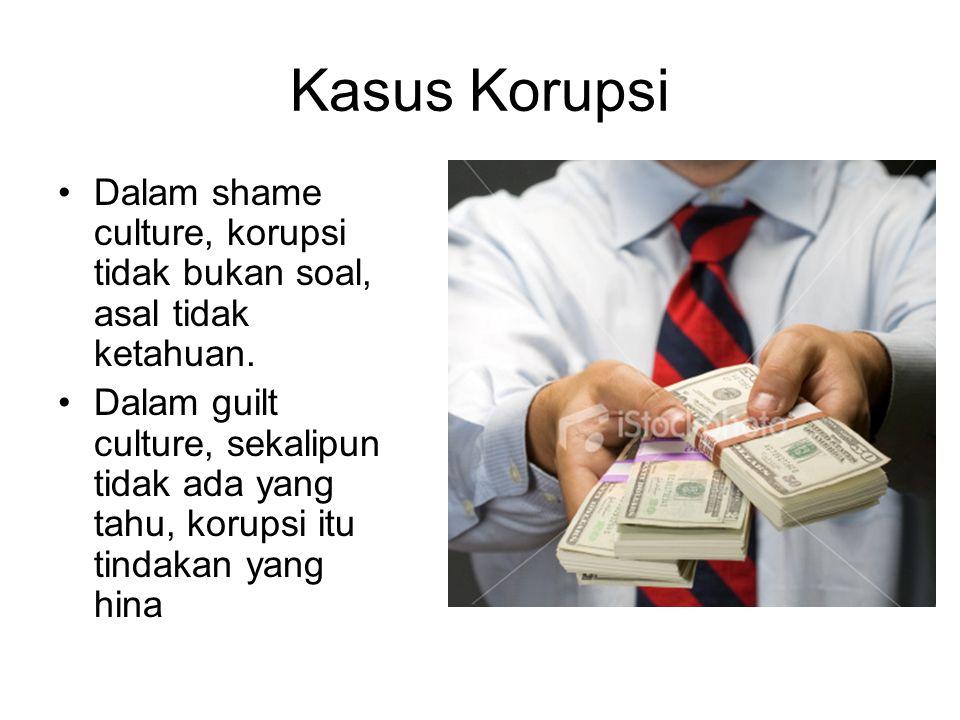 Kasus Korupsi Dalam shame culture, korupsi tidak bukan soal, asal tidak ketahuan.