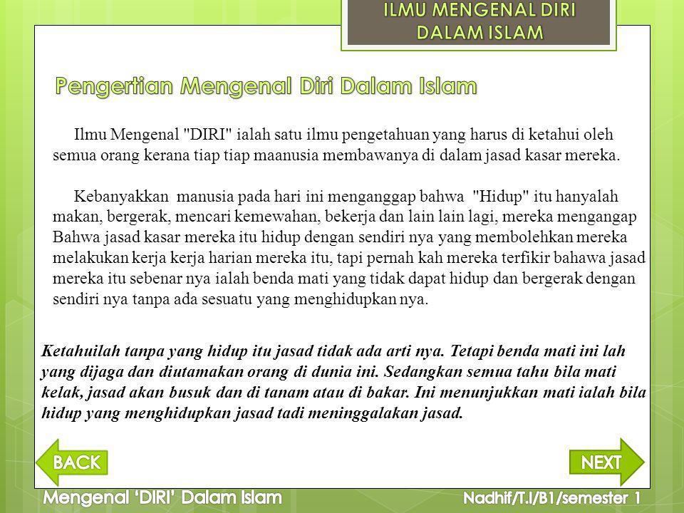 Pengertian Mengenal Diri Dalam Islam