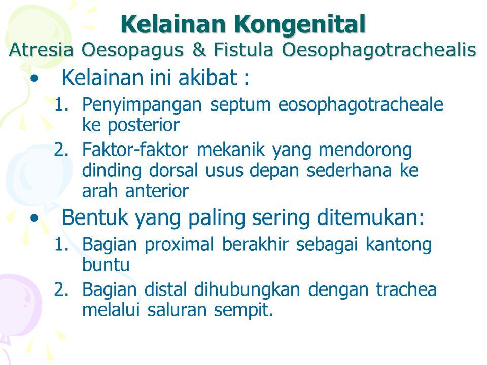 Atresia Oesopagus & Fistula Oesophagotrachealis