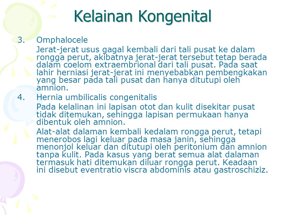 Kelainan Kongenital Omphalocele