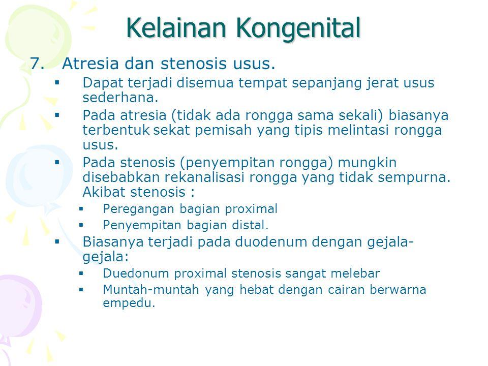 Kelainan Kongenital Atresia dan stenosis usus.