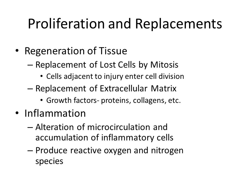 Proliferation and Replacements