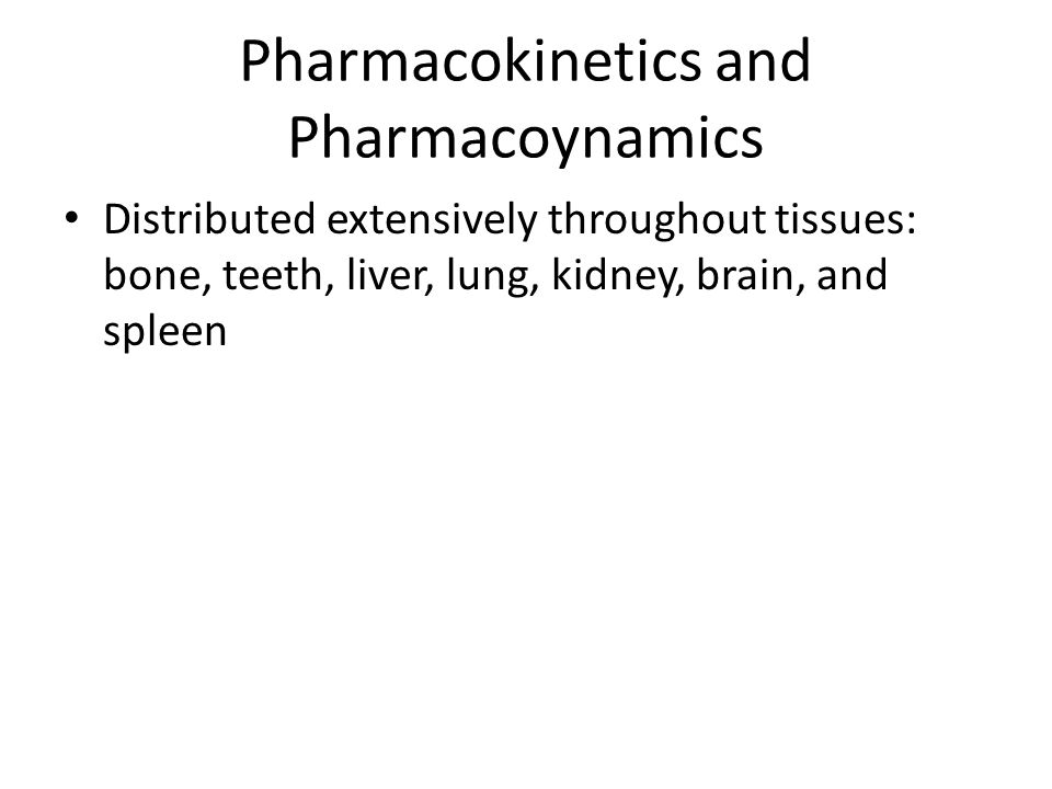 Pharmacokinetics and Pharmacoynamics