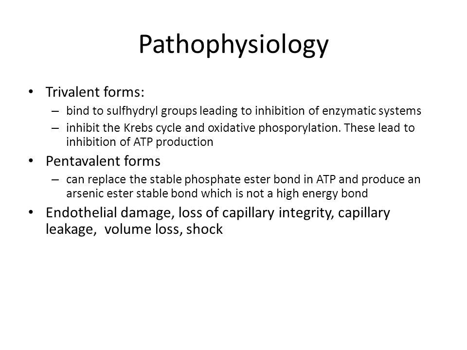 Pathophysiology Trivalent forms: Pentavalent forms