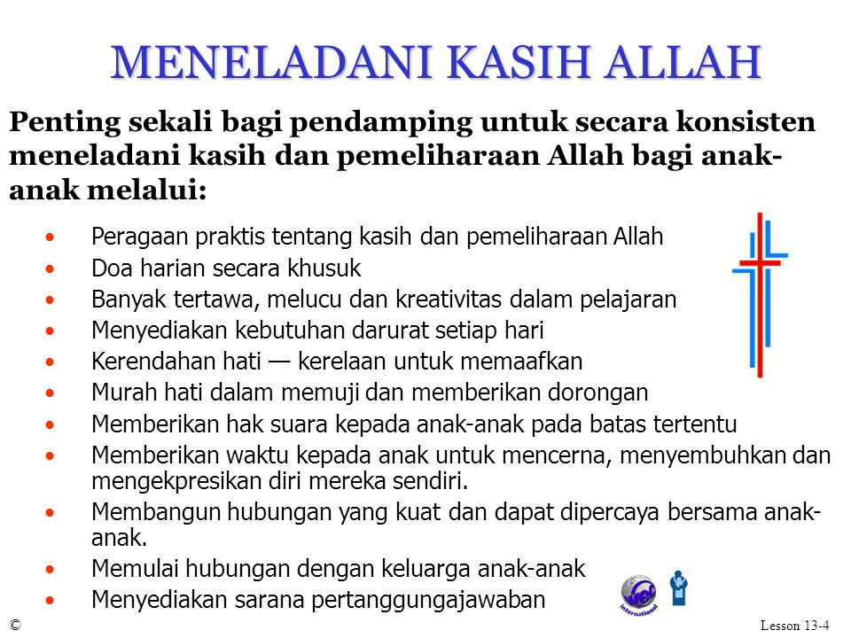 MENELADANI KASIH ALLAH