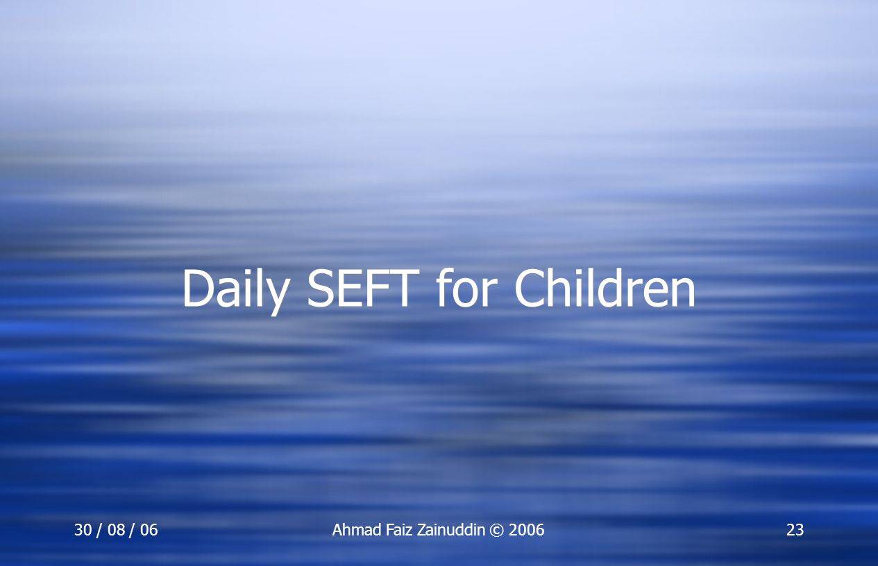 Daily SEFT for Children