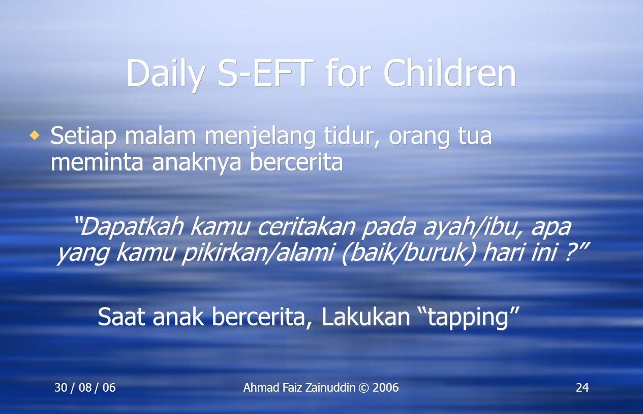 Daily S-EFT for Children