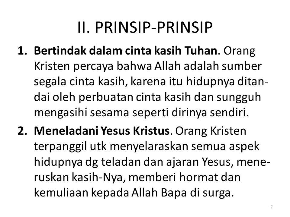 II. PRINSIP-PRINSIP