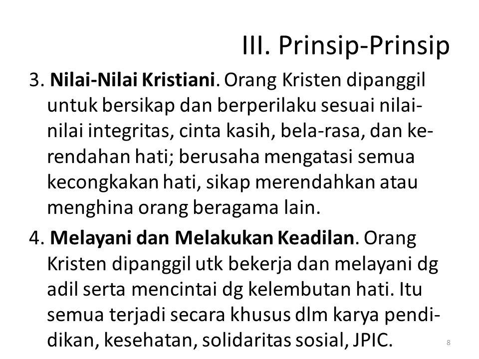III. Prinsip-Prinsip