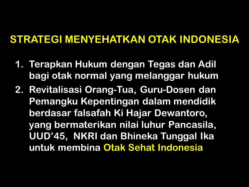 STRATEGI MENYEHATKAN OTAK INDONESIA