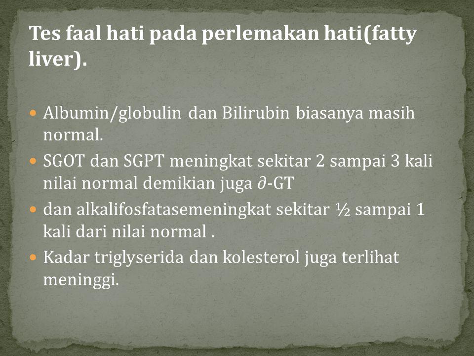 Tes faal hati pada perlemakan hati(fatty liver).