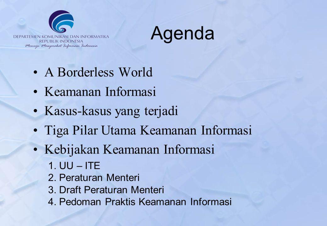 Agenda A Borderless World Keamanan Informasi Kasus-kasus yang terjadi